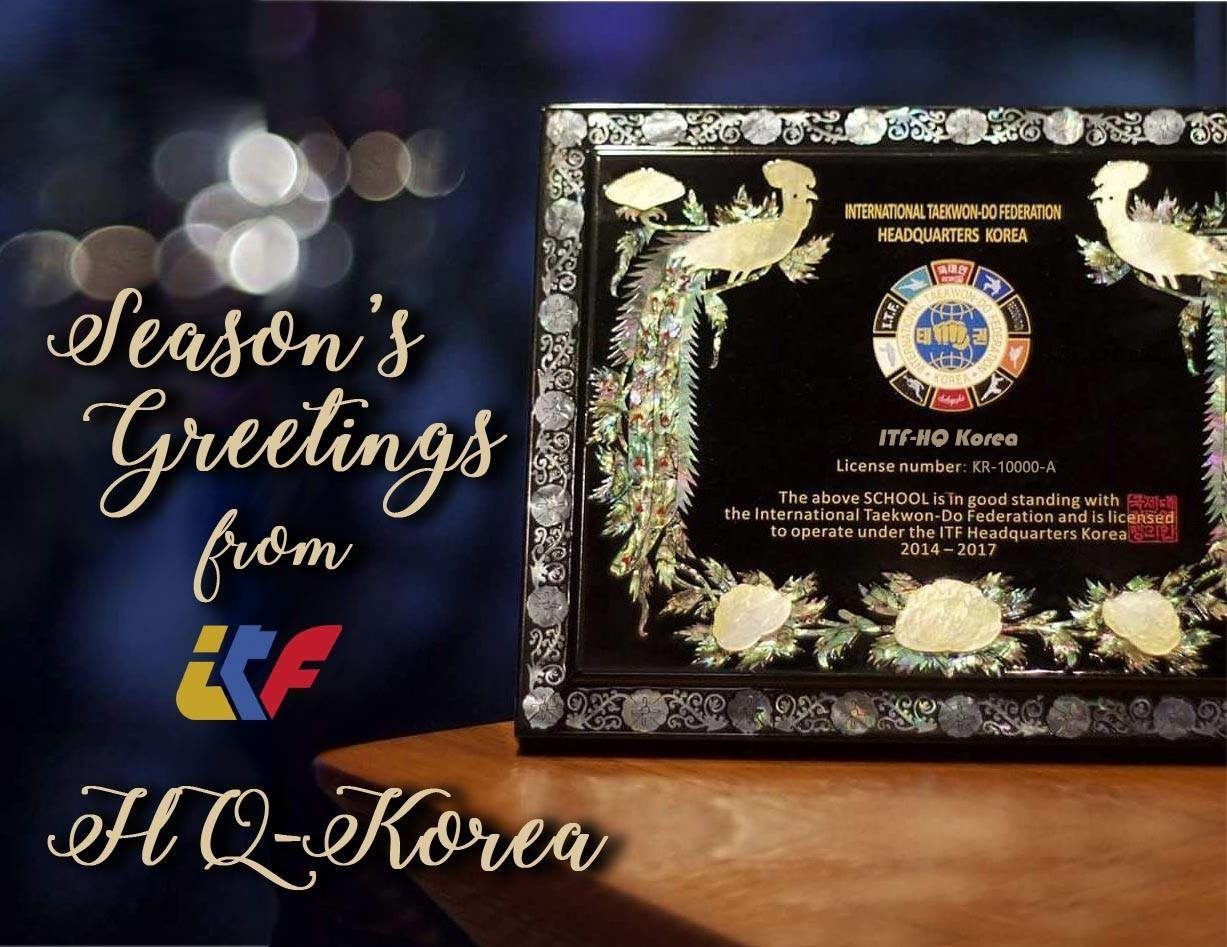 29-DECEMBER 2016 Season's Greetings from ITF HQ Korea